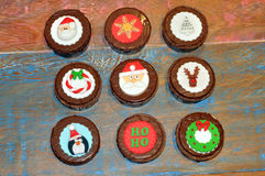 Decorated Christmas Honey Breads or Cakes Stock Images