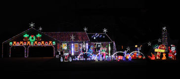 Decorated Christmas House Royalty Free Stock Images