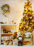 Decorated Christmas interior corner Royalty Free Stock Images