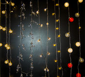 Decorated christmas lights Royalty Free Stock Photos