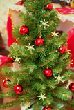 Decorated Christmas and New Year tree indoors Royalty Free Stock Photos