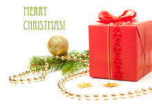 Decorated Christmas present Royalty Free Stock Photos