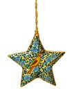 Decorated Christmas Star with Clipping Path Stock Image
