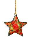 Decorated Christmas Star with Clipping Path. Isolated, Decorated Christmas Star with Clipping Path Royalty Free Stock Image