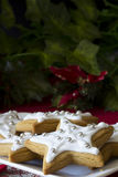 Decorated Christmas Star Cookies Vertical Stock Photos
