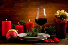 Decorated Christmas Table Stock Image