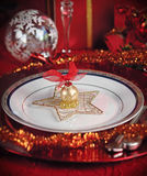 Decorated Christmas Table Stock Photo