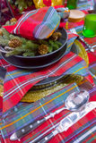 Decorated Christmas table setting Royalty Free Stock Images