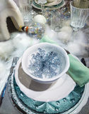 Decorated Christmas table setting Royalty Free Stock Photos