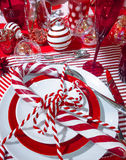 Decorated Christmas table setting Royalty Free Stock Photography