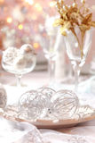 Decorated Christmas table Stock Images