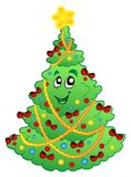 Decorated Christmas tree 1 Royalty Free Stock Photo