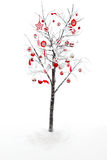 Decorated Christmas Tree Royalty Free Stock Images