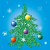 Decorated Christmas tree. Royalty Free Stock Photography