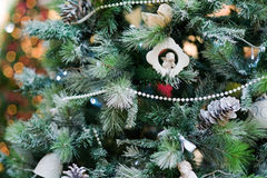 Decorated christmas tree Royalty Free Stock Photography