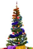 Decorated christmas tree Royalty Free Stock Photo