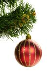 Decorated christmas tree Stock Photo
