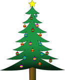 Decorated Christmas Tree. Vector illustration of a decorated Christmas tree Vector Illustration