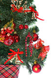 Decorated Christmas tree Stock Image