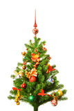 Decorated Christmas-tree Stock Photo