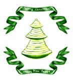 Decorated christmas tree Stock Image