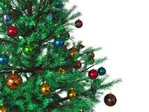 Decorated Christmas tree background Stock Image