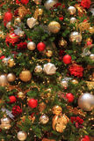 Decorated Christmas Tree Background Royalty Free Stock Photography