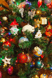 Decorated christmas tree background Royalty Free Stock Image