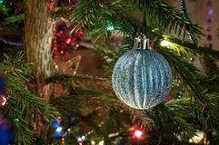 Decorated Christmas tree. With beautiful Christmas ball Royalty Free Stock Photography