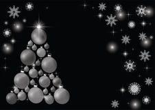Decorated Christmas tree, beautiful New Year`s background. stock illustration