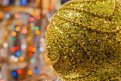 Decorated Christmas tree on  blurred, sparkling and fairy background Stock Photography