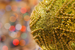 Decorated Christmas tree on  blurred, sparkling and fairy background Royalty Free Stock Photography