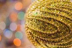 Decorated Christmas tree on  blurred, sparkling and fairy background Royalty Free Stock Photo