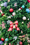 Decorated Christmas Tree. A closeup of a Christmas tree showing some decorations Royalty Free Stock Images