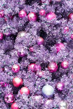 Decorated Christmas Tree. A closeup of a Christmas tree showing some decorations royalty free stock photo
