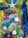 Decorated christmas tree with colorful ornaments. Stock Photography