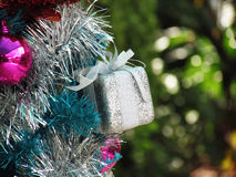 Decorated christmas tree with colorful ornaments. Royalty Free Stock Photos