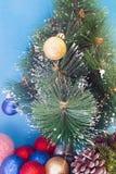 Decorated Christmas tree Stock Photo