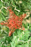 Decorated Christmas tree on the eve of Christmas day Stock Photography