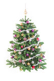 Decorated Christmas Tree with Garland Stock Image