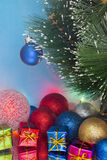 Decorated Christmas tree with gifts Royalty Free Stock Photos