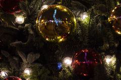 Decorated Christmas tree. Good background for postcard Royalty Free Stock Photography