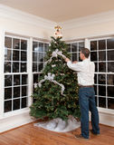 Decorated christmas tree in home Royalty Free Stock Photos
