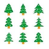 Decorated Christmas Tree  Illustration Royalty Free Stock Photo