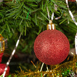 Decorated christmas-tree Stock Photography