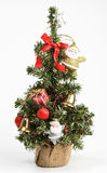 Decorated Christmas tree isolated on white Stock Photo