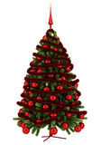 Decorated christmas tree isolated on white Stock Photography