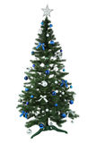 Decorated christmas tree isolated on white background Royalty Free Stock Images