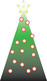 Decorated Christmas tree. Isolated on white background Royalty Free Stock Photos