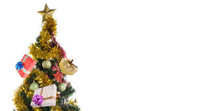 Decorated christmas tree Royalty Free Stock Image